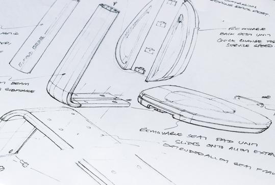 A E Harris Design Sketch