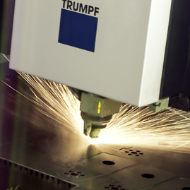 Laser Cutting Machine close up